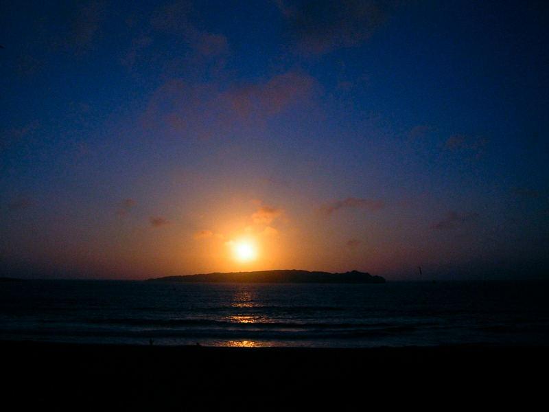 Sonnenuntergang an der Bahia Cisne