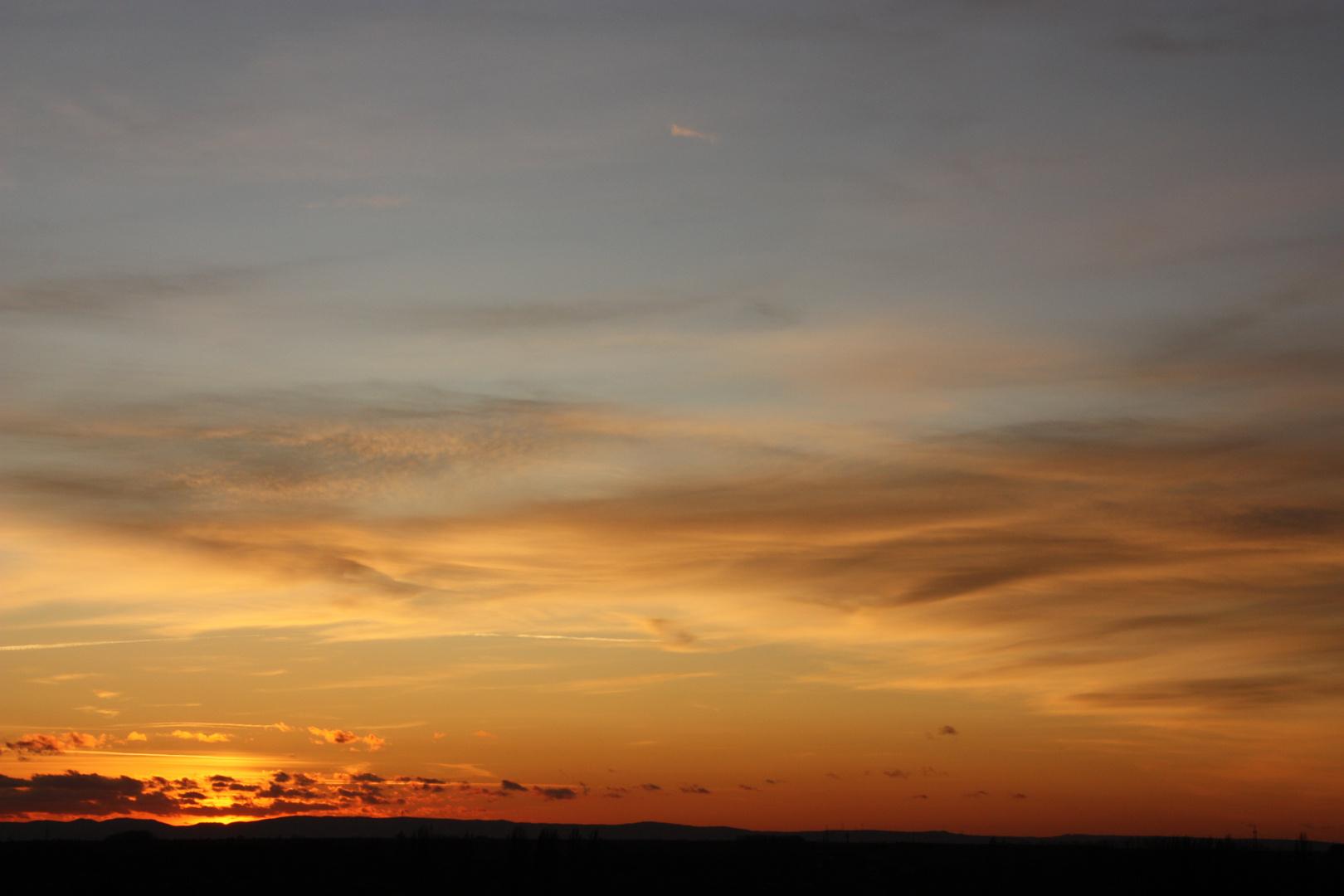 Sonnenuntergang an der Bergstrasse