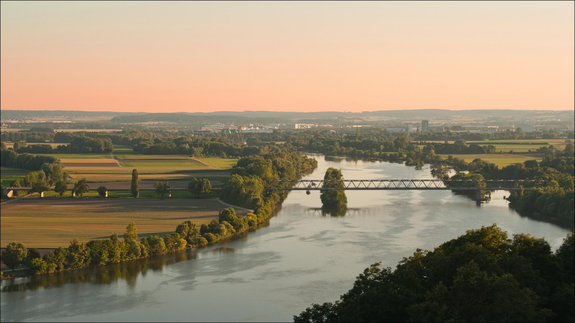 Sonnenuntergang an der Donau reloaded