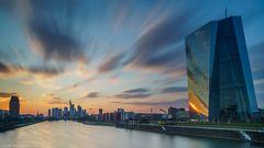 Sonnenuntergang an der EZB