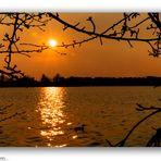 Sonnenuntergang an der Förmitztalsperre 2