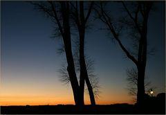 Sonnenuntergang an der Hamme...