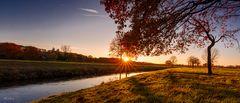 Sonnenuntergang an der Hase