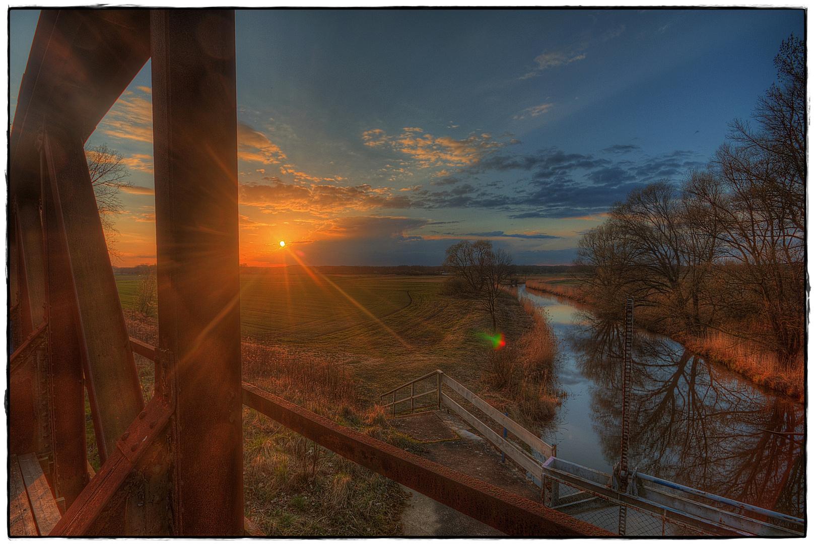 Sonnenuntergang an der Jeetzel