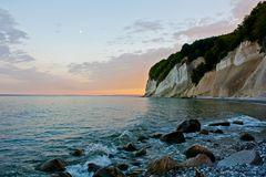 Sonnenuntergang an der Kreideküste