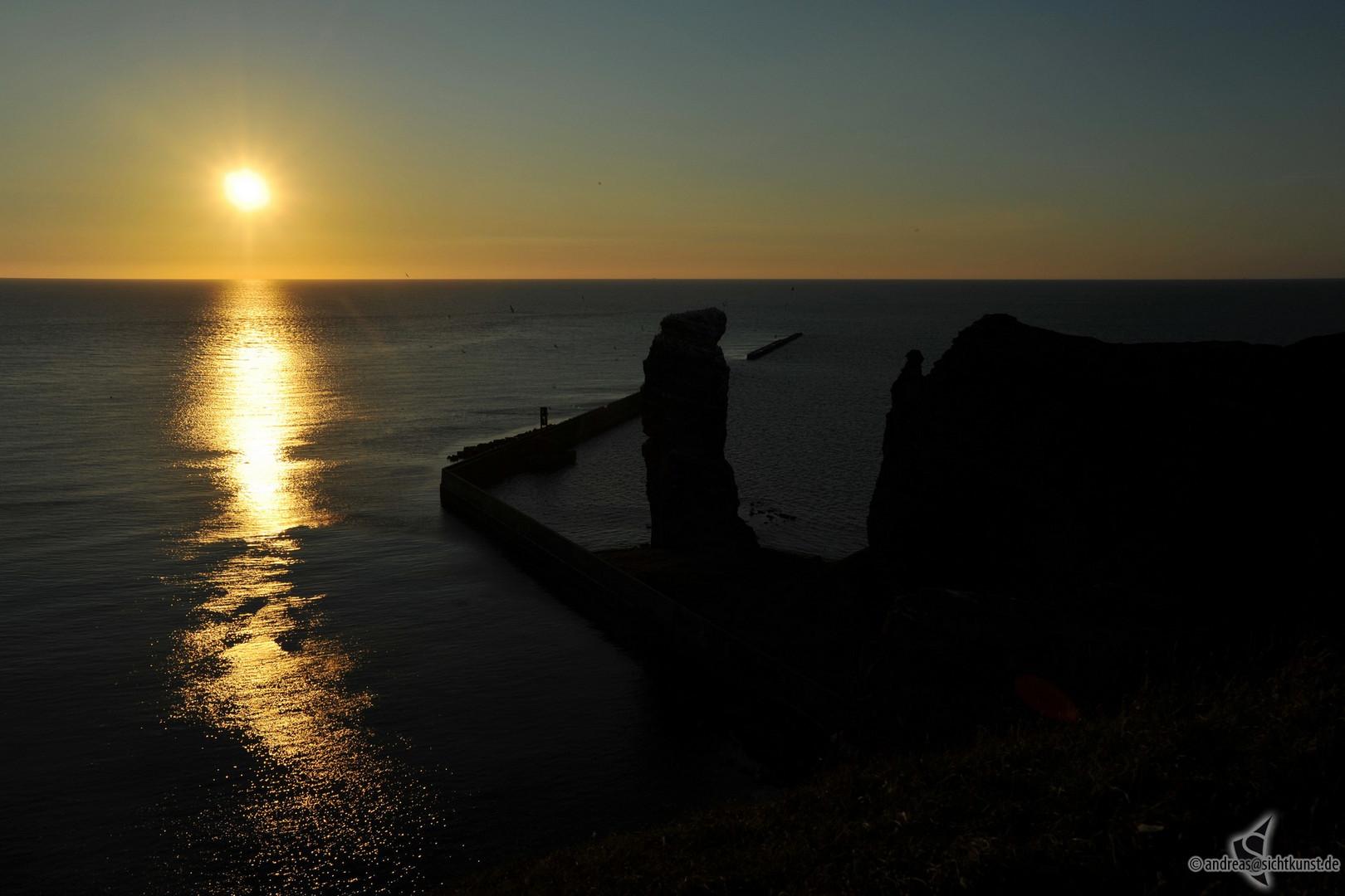 Sonnenuntergang an der langen Anna