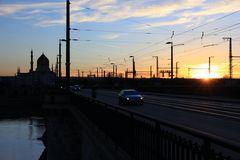 Sonnenuntergang an der Marienbrücke