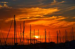 Sonnenuntergang an der Marina Rubicon
