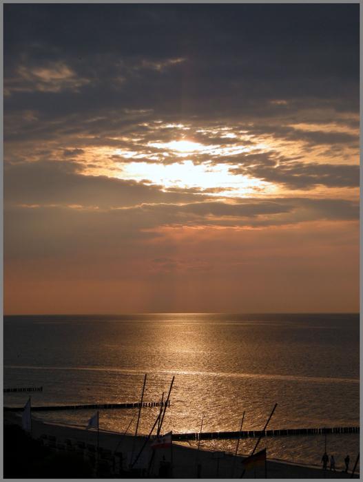 ...Sonnenuntergang an der Ostsee 7/2011