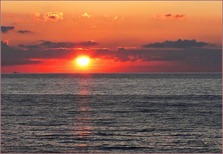 Sonnenuntergang an der Ostseeküste
