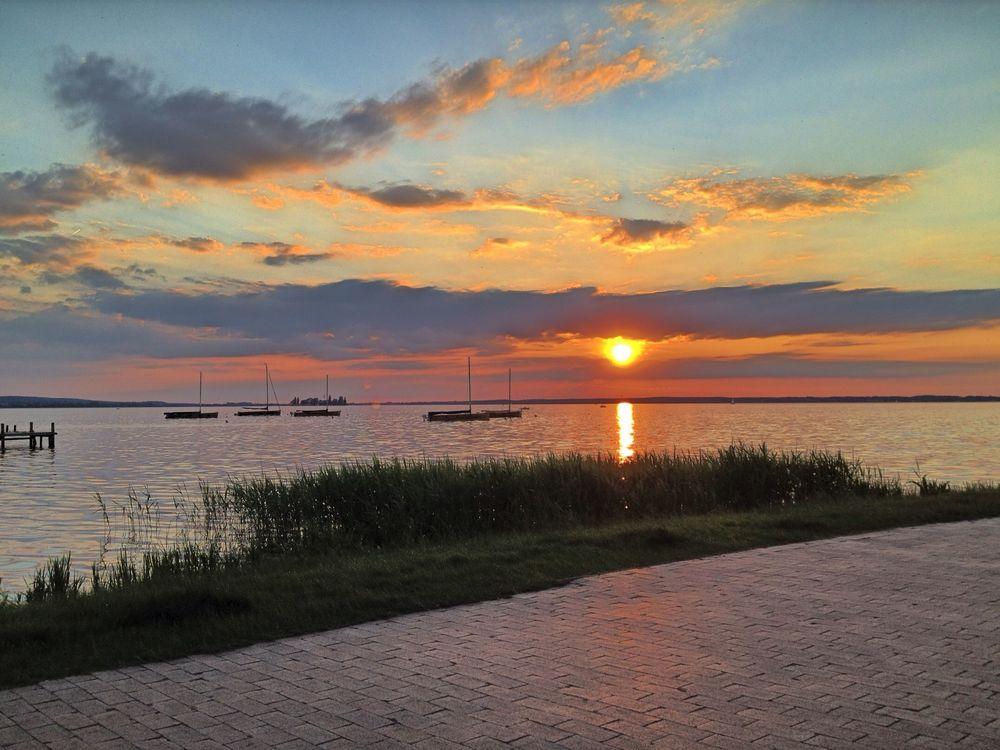 Sonnenuntergang an der Steinhuder Promenade