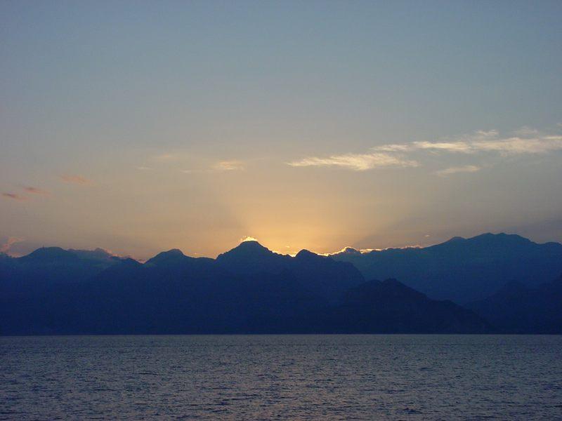 Sonnenuntergang an der türkischen Küste.