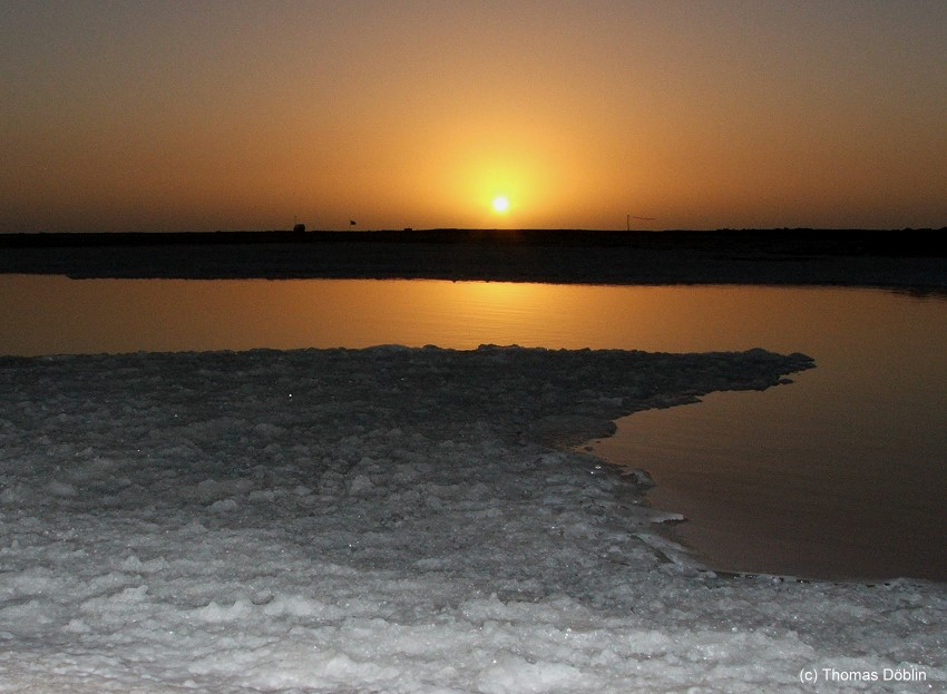 Sonnenuntergang an der Walvis Bay
