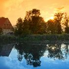 Sonnenuntergang an der Wörnitz