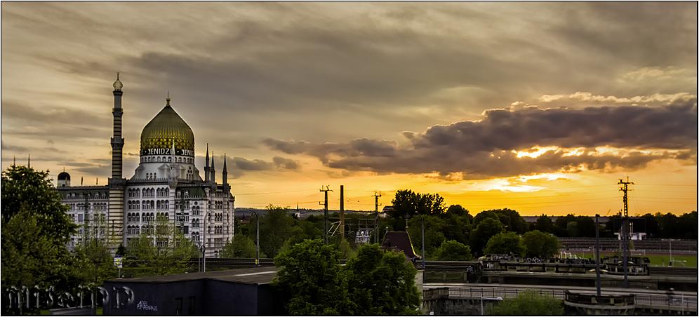 Sonnenuntergang an der Yenidze