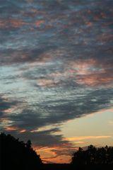 Sonnenuntergang an einem Novembertag