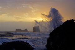 Sonnenuntergang an Island´s Südküste