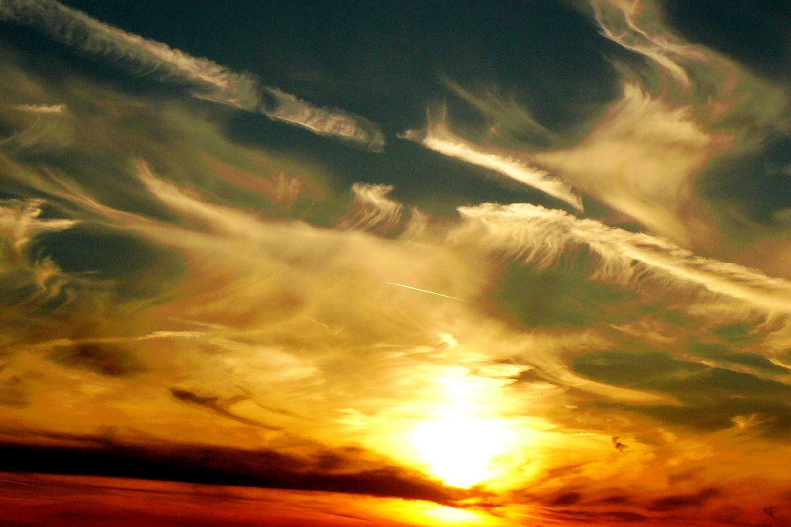 Sonnenuntergang an Krombachtalsperre