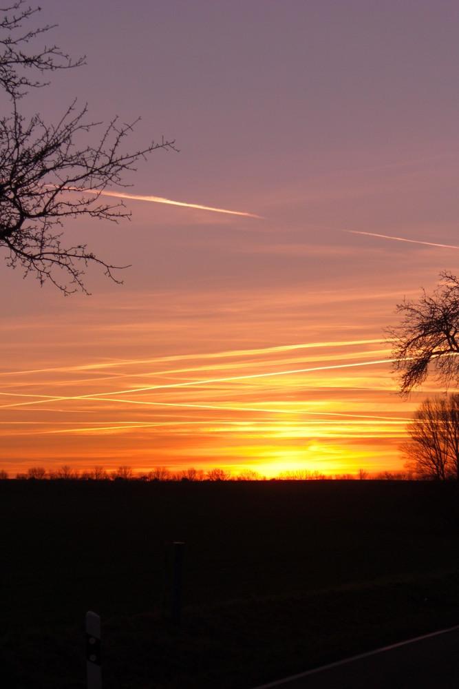 Sonnenuntergang Aschersleben