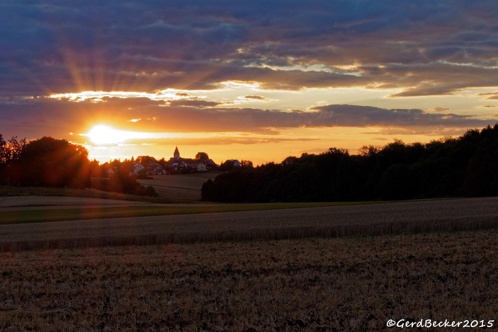 Sonnenuntergang Auernheim