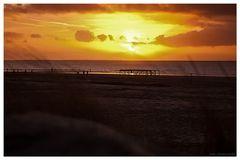 Sonnenuntergang auf Borkum 2
