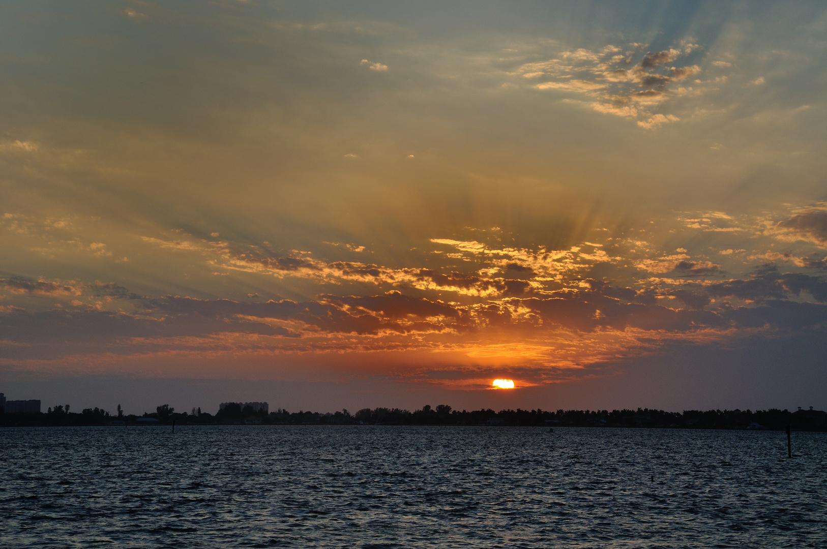 Sonnenuntergang auf Cape Coral, FL