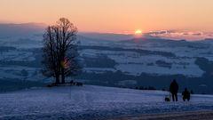Sonnenuntergang auf dem Ballenbühl