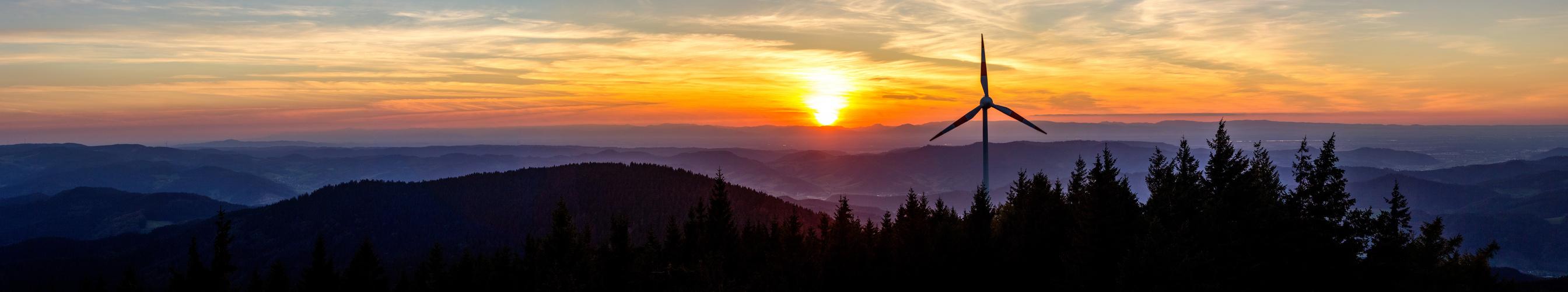 Sonnenuntergang auf dem Brandenkopf (Schwarzwald)