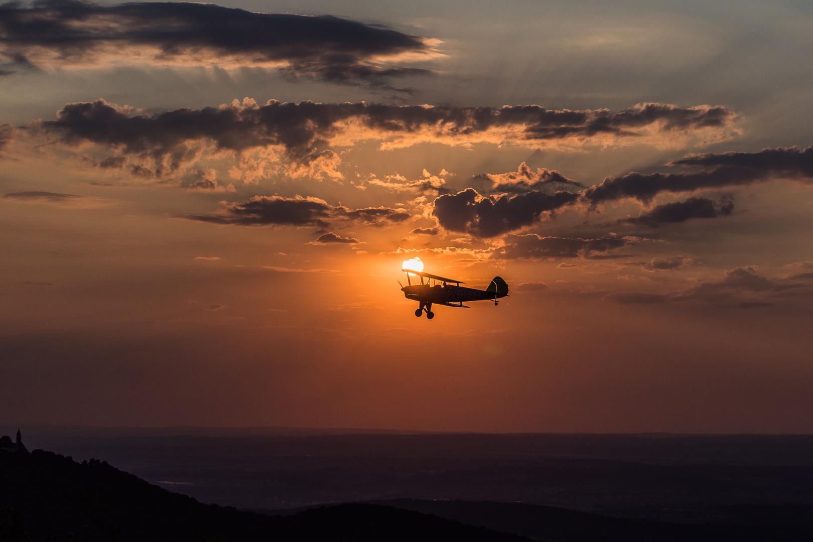 Sonnenuntergang auf dem Breitenstein