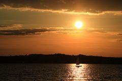 Sonnenuntergang auf dem Brombachsee