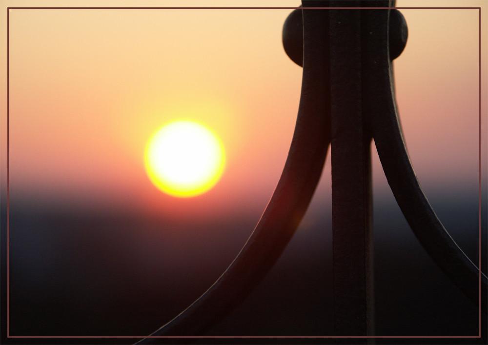 Sonnenuntergang auf dem Eschenberg