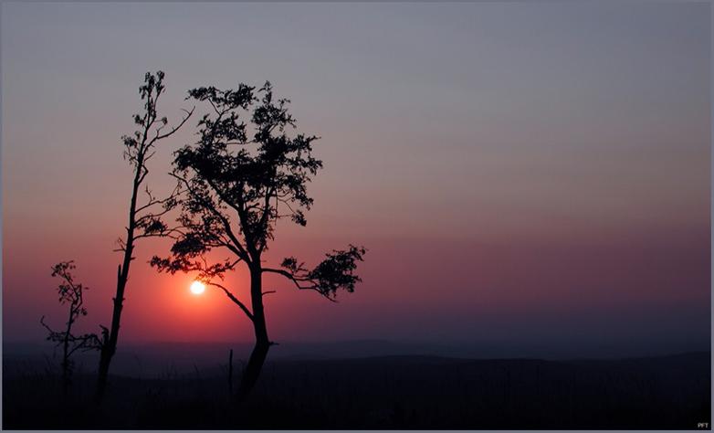 Sonnenuntergang auf dem Fichtelberg 2 Erzgebirge