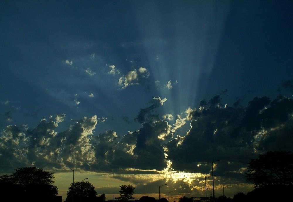 Sonnenuntergang auf dem Highway