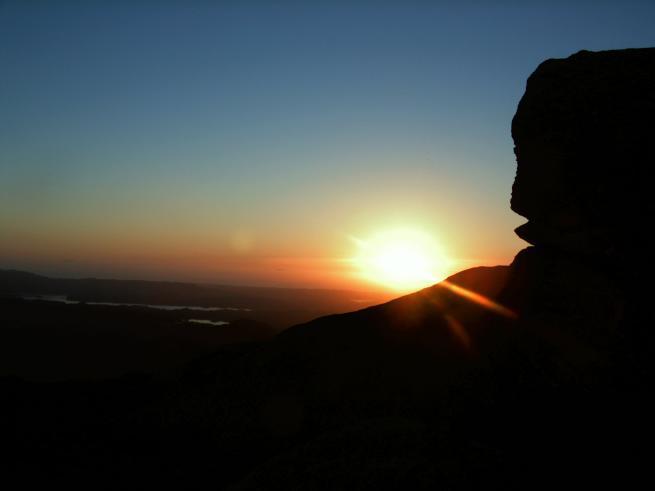 sonnenuntergang auf dem løvstakken, bergen, norwegen
