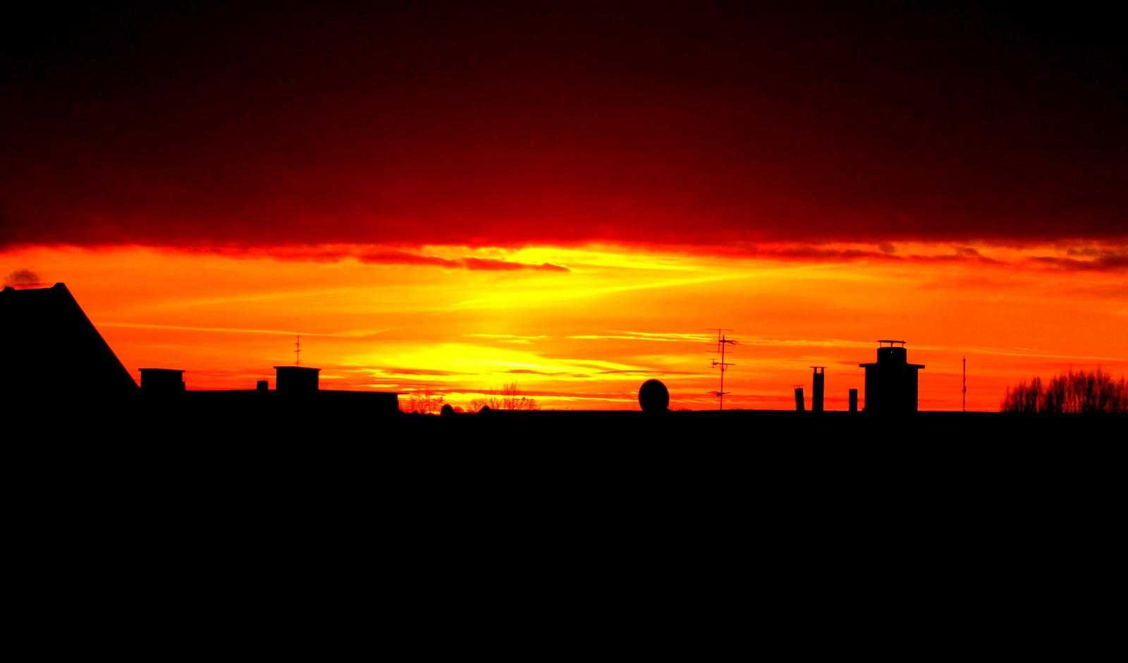 Sonnenuntergang auf dem Rodenhof