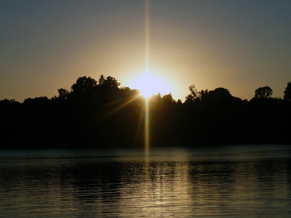 Sonnenuntergang auf dem Schweriner See