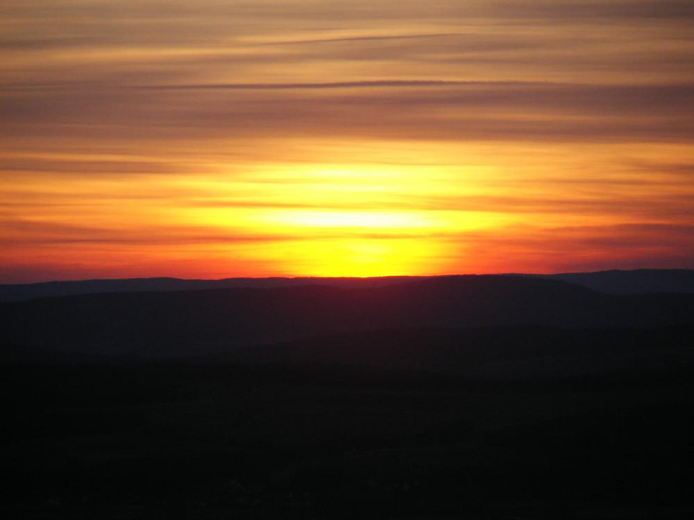 Sonnenuntergang auf dem Staffelberg