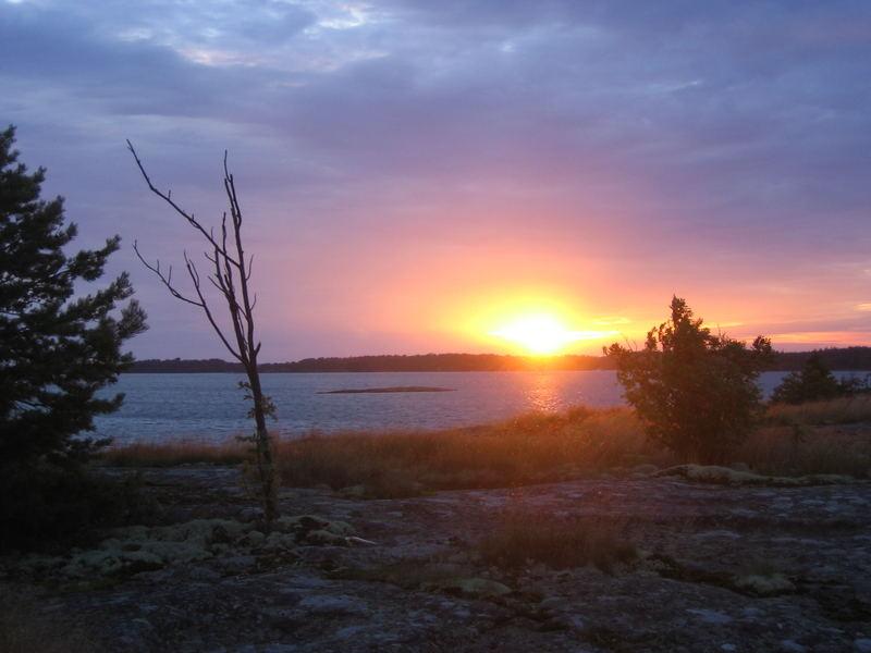 Sonnenuntergang auf den Alandinseln (Finnland 2007)