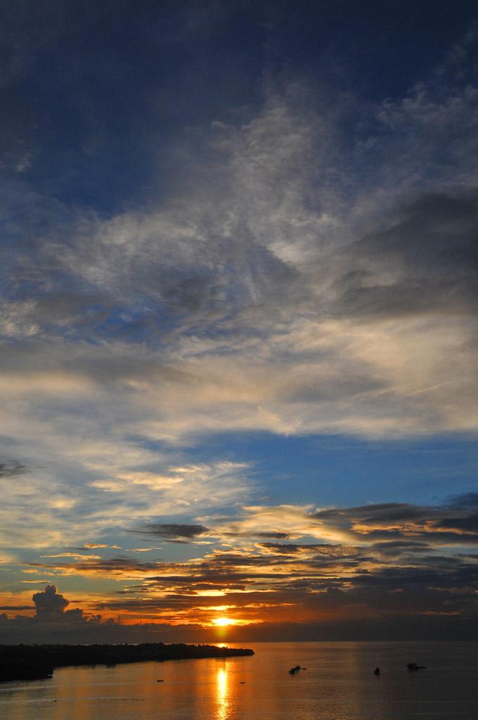 Sonnenuntergang auf den Philippinen