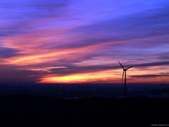 Sonnenuntergang auf der Halde Hoheward / Recklinghausen III