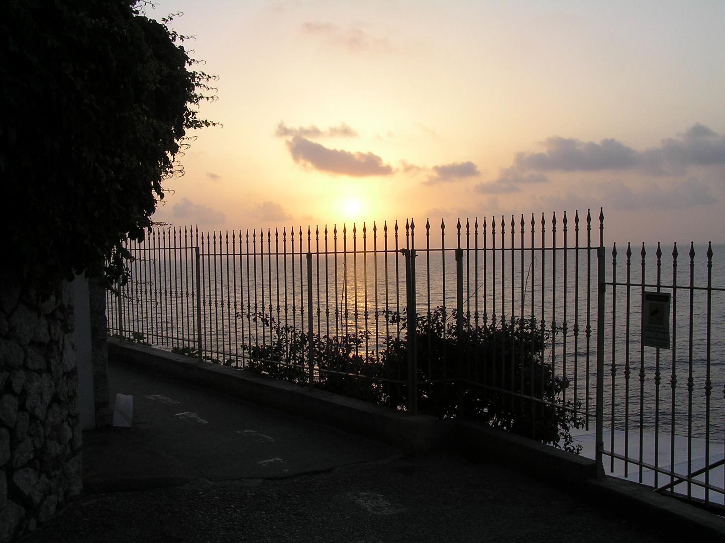 Sonnenuntergang auf der Insel Capri (1)