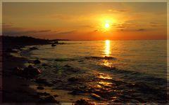 Sonnenuntergang auf der Insel Fehmarn