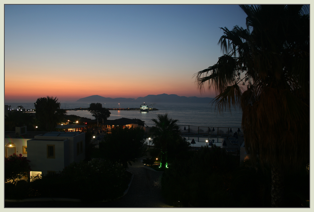 Sonnenuntergang auf der Insel Kos