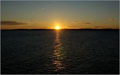 ... Sonnenuntergang auf der Ostsee ...