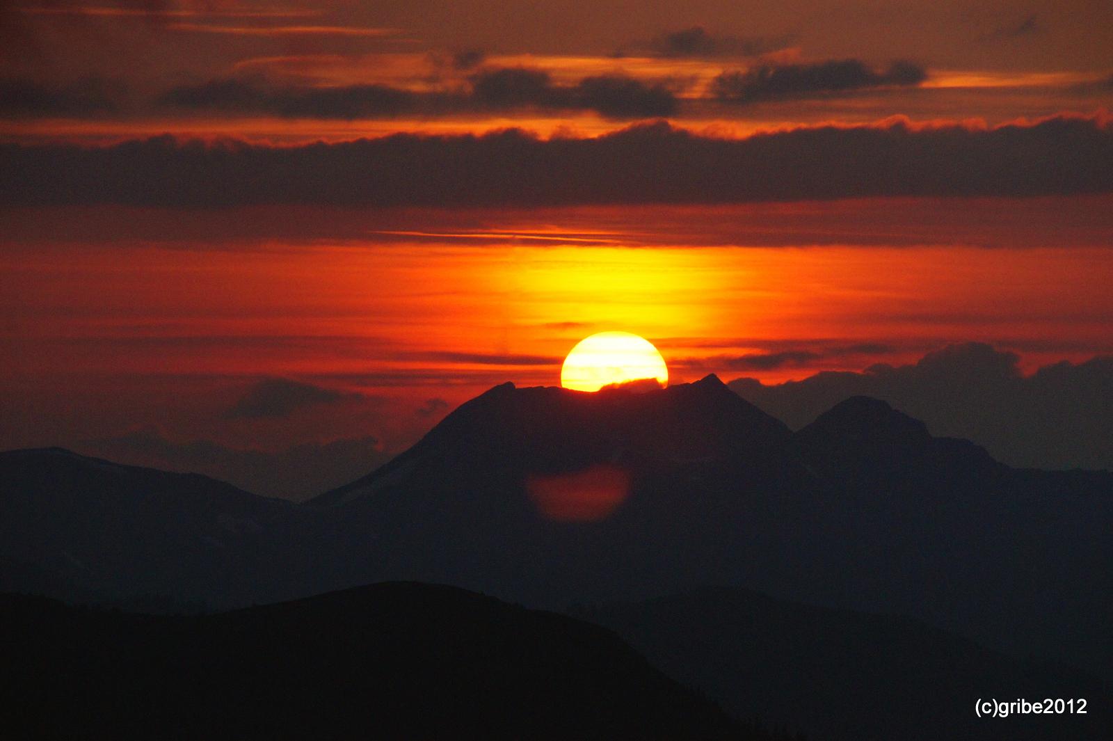 Sonnenuntergang auf der Schmittenhöhe