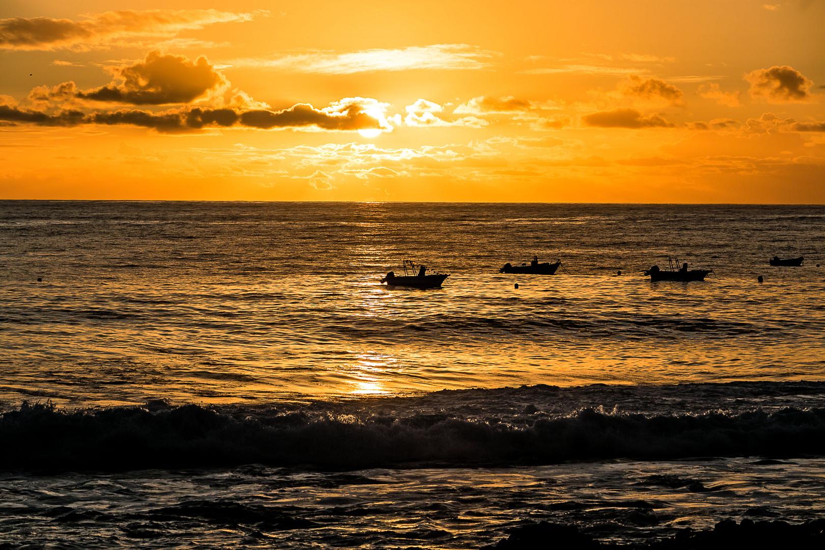 Sonnenuntergang auf der Westseite von La Palma