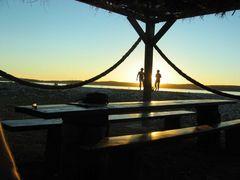 Sonnenuntergang auf einer Insel bei Medulin