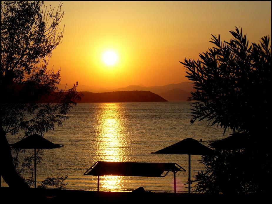 Sonnenuntergang auf Euböa
