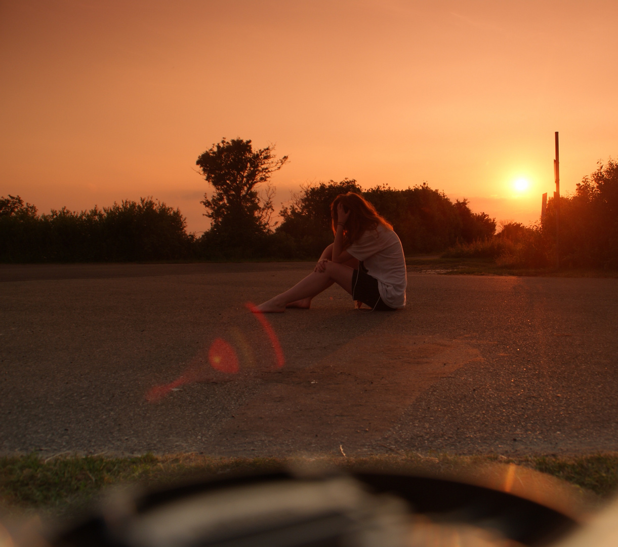 Sonnenuntergang auf Föhr...