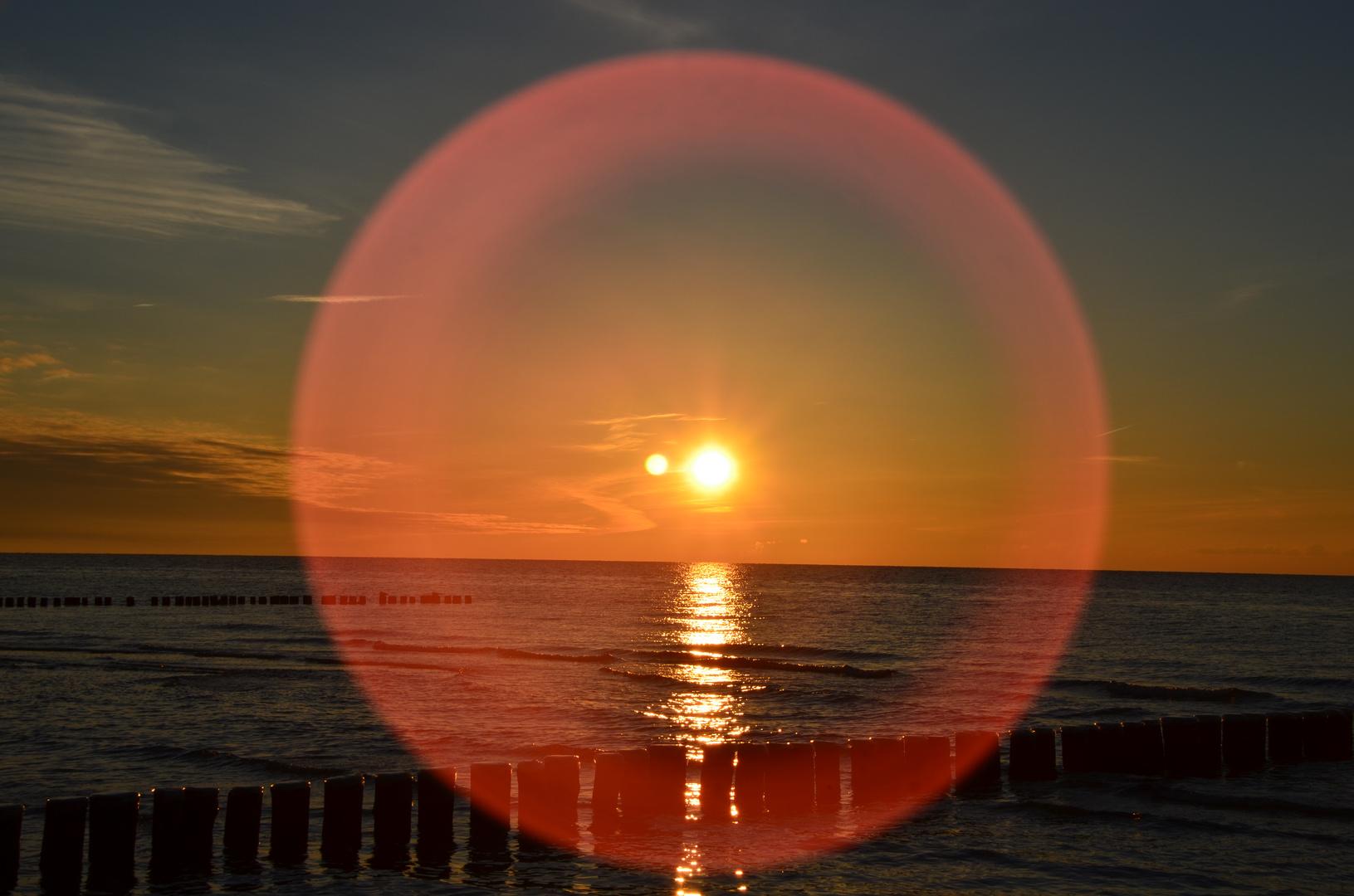 Sonnenuntergang auf Hiddensee